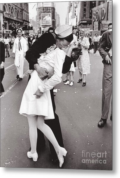 V J Day Times Square - 1945 Metal Print