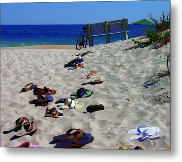 Vacation In The Hamptons Ny Metal Print by Jacqueline M Lewis