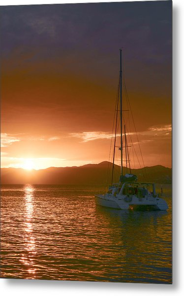 Vacation Sunset Metal Print by    Michael Glenn