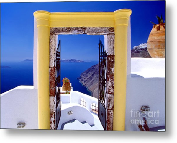 Vacations Gate Metal Print