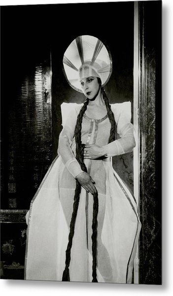 Valentina Koshubaas The Bride In Les Noces Metal Print by Cecil Beaton