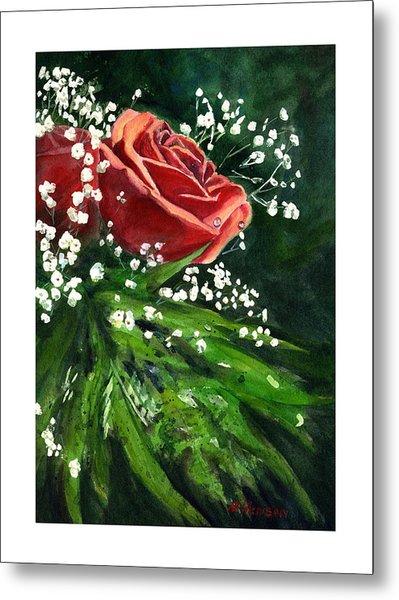 Valentine Rose Metal Print