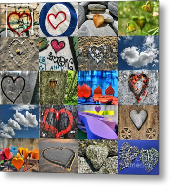 Valentine's Day - Hearts For Sale Metal Print