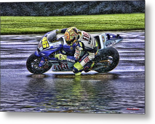 Valentino Rossi At Indy Metal Print