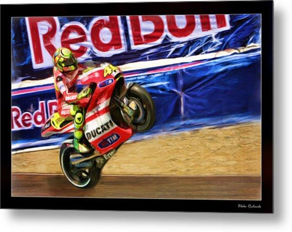 Valentino Rossi Ducati Metal Print