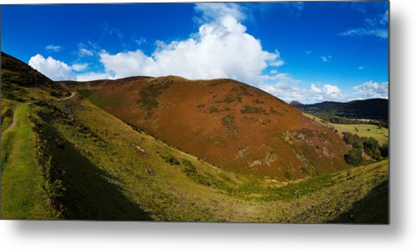 Valley To Hopes Wood, Little Stretton Metal Print