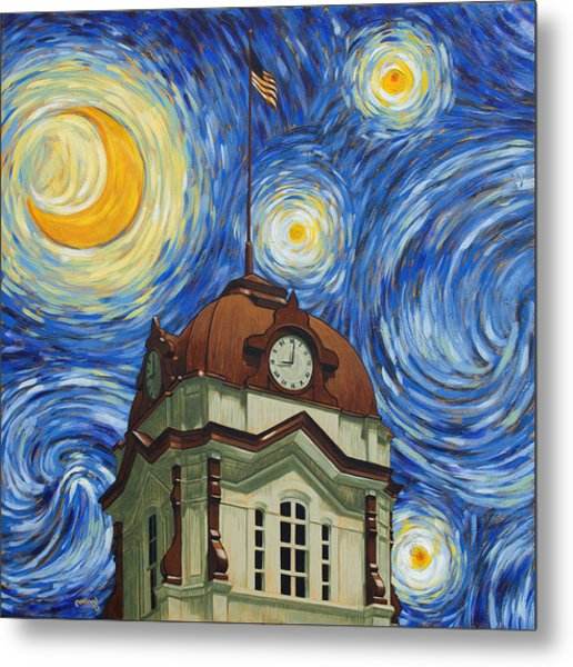 Van Gogh Courthouse Metal Print
