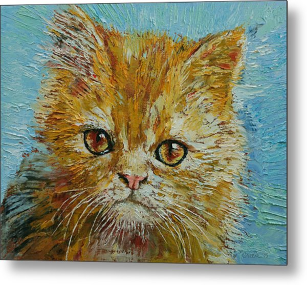 Van Gogh The Kitten Metal Print