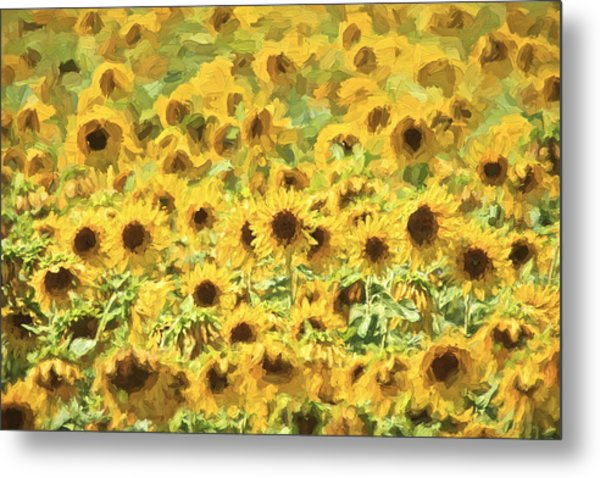 Van Gogh Sunflowers Metal Print