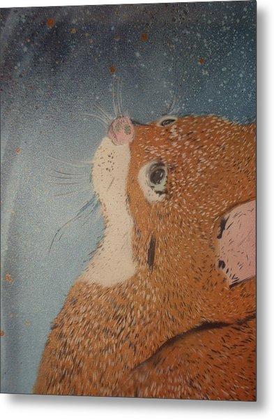 Van Goghs Cat Metal Print by Christopher Golding