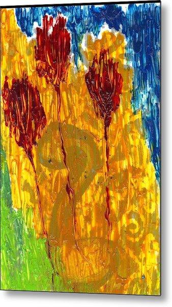 Van Gogh's Garden Of Eden Metal Print