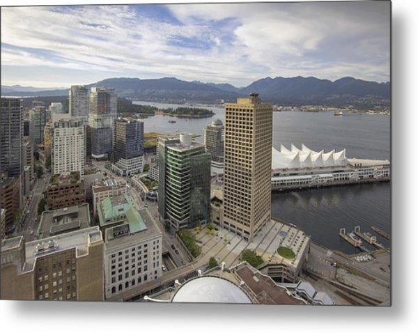 Vancouver Bc City With Stanley Park View Metal Print