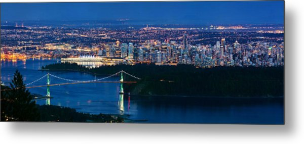 Vancouver From Cypress Mountain Metal Print
