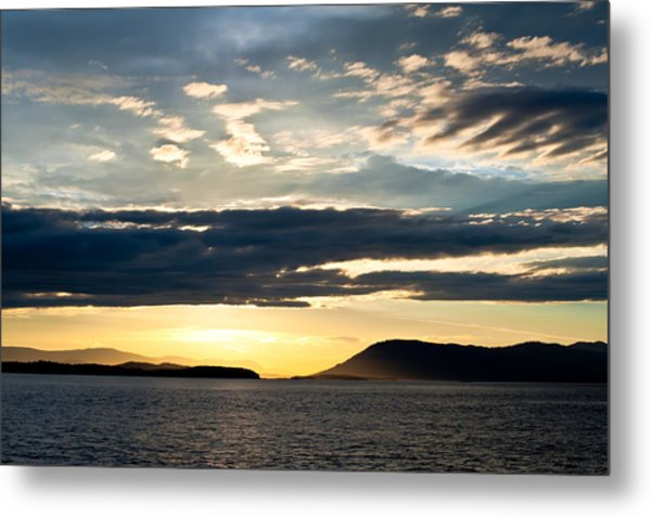 Vancouver Island Sunset Metal Print