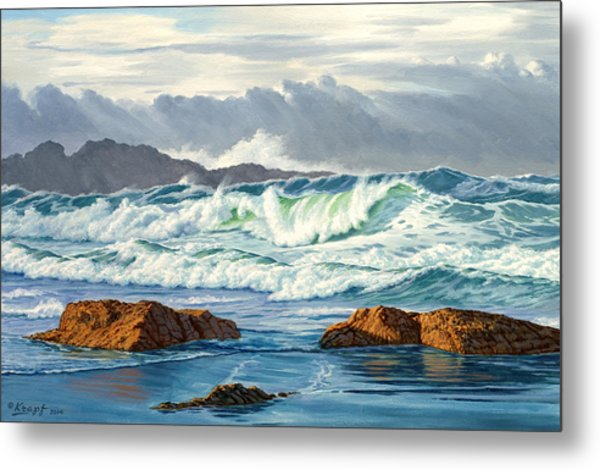 Vancouver Island Surf Metal Print by Paul Krapf