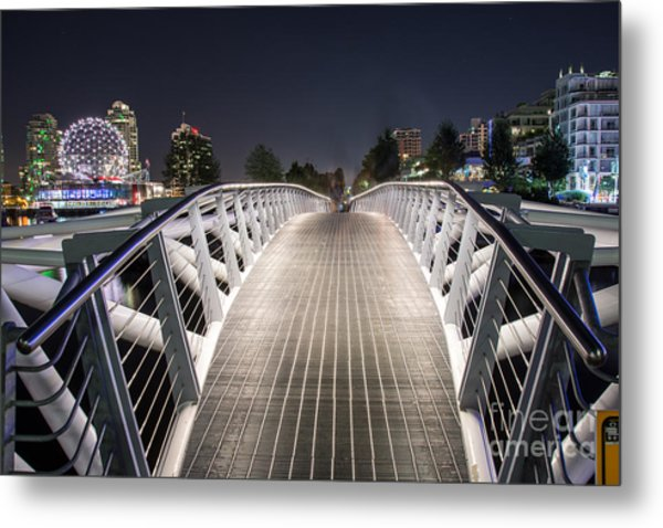 Vancouver Olympic Village Canoe Bridge - By Sabine Edrissi  Metal Print