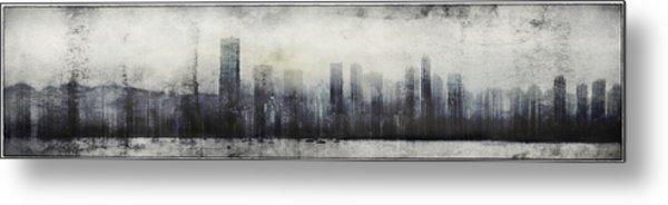 Vancouver Skyline Abstract 1 Metal Print