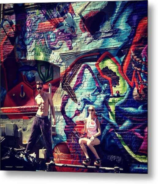 Vanilla Ice Graffiti Venice Beach  Metal Print