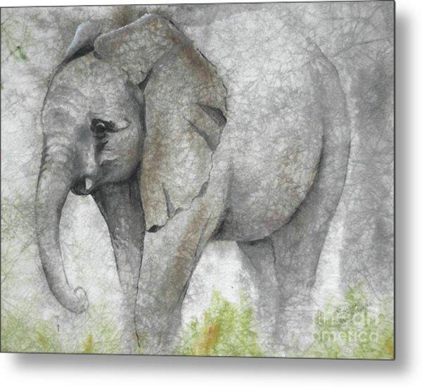 Vanishing Thunder Series-baby Elephant I Metal Print