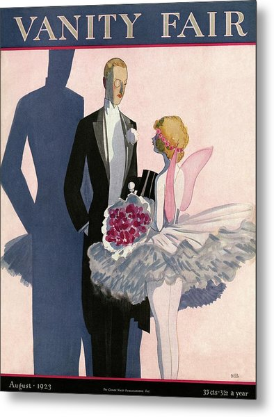 Vanity Fair Cover Featuring A Man In A Tuxedo Metal Print by Eduardo Garcia Benito