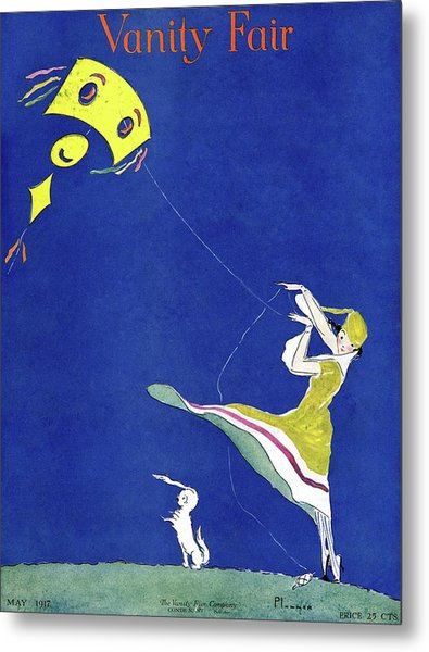 Vanity Fair Cover Featuring A Woman Flying A Kite Metal Print by Ethel Plummer