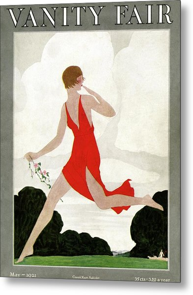 Vanity Fair Cover Featuring A Young Woman Metal Print