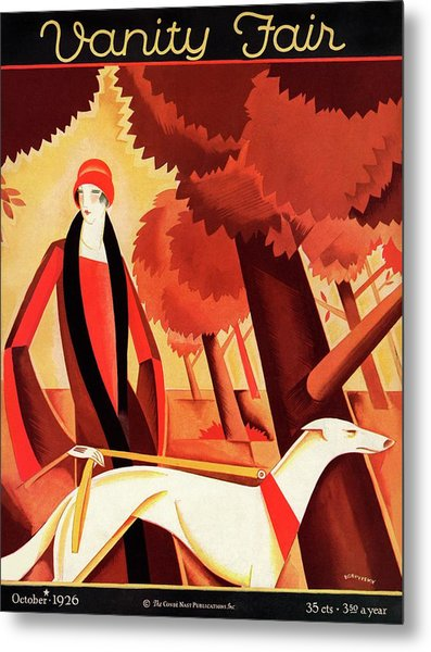 Vanity Fair Cover Featuring An Elegant Woman Metal Print by Victor Bobritsky