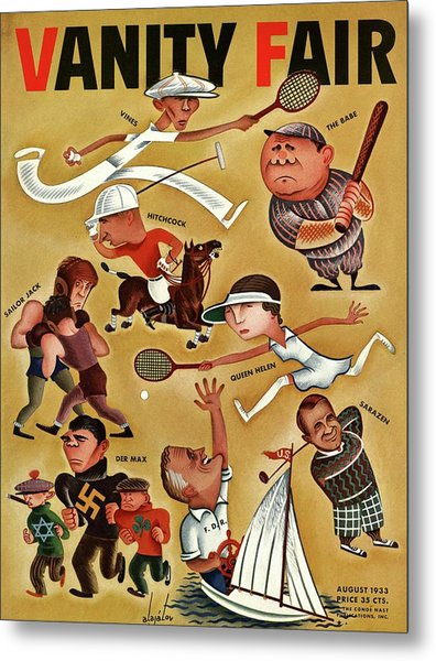 Vanity Fair Cover Featuring Caricatures Metal Print