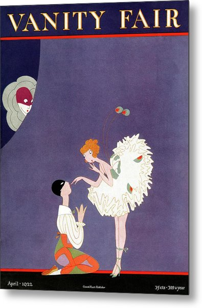 Vanity Fair Cover Featuring Dancers Flirting Metal Print by A. H. Fish