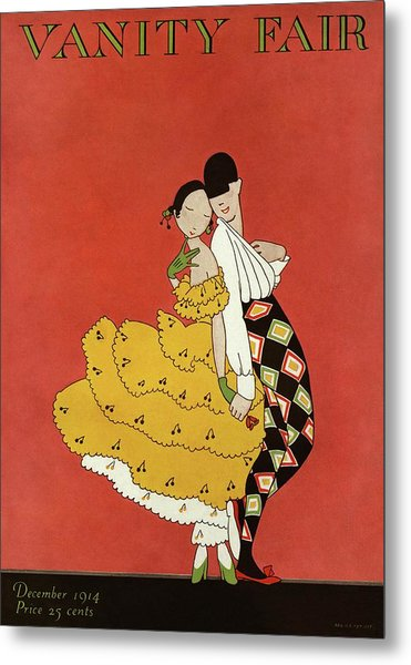 Vanity Fair Cover Featuring Two Dancers Metal Print by A. H. Fish