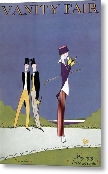 Vanity Fair Cover Featuring Two Men Wearing Top Metal Print by A. H. Fish & Arthur H. Finley