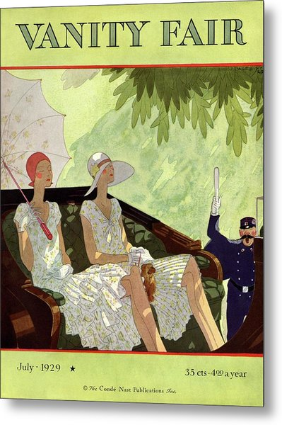 Vanity Fair Cover Featuring Two Women Sitting Metal Print