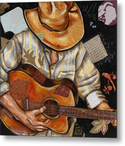 Vaquero De The Acoustic Guitar Metal Print
