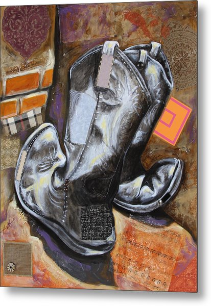 Vaquero De The Boots Metal Print