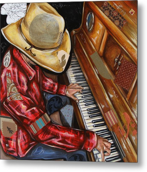 Vaquero De The Piano Metal Print