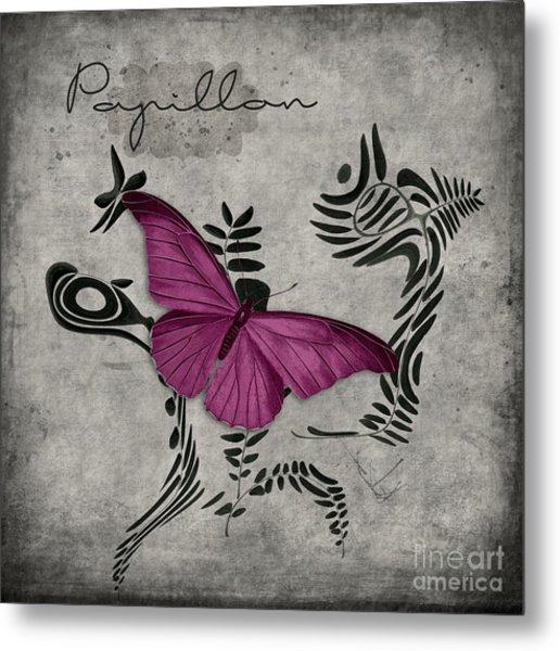 Variation Sur Un Meme Theme - S05 Papillon Pink Metal Print