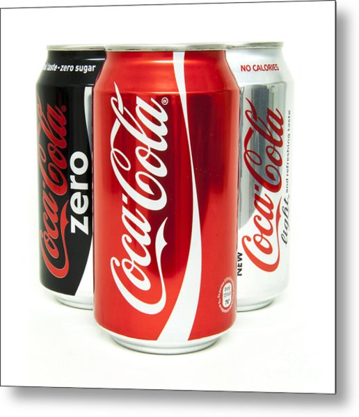 Various Coke Cola Cans Metal Print