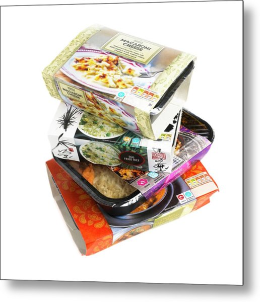 Various Ready Meals Metal Print by Science Photo Library