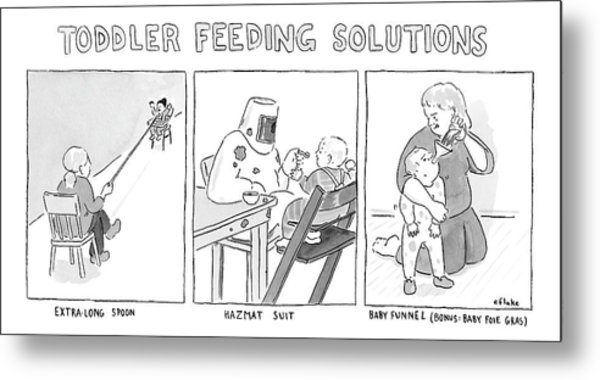 Various Ways To Feed A Toddler Without Getting Metal Print
