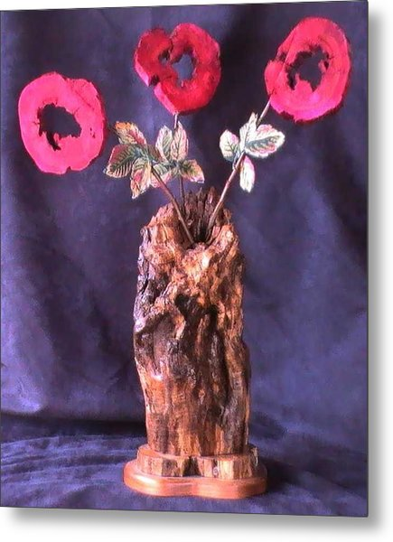 Vase Of Flowers Metal Print by Tanna Lee M Wells