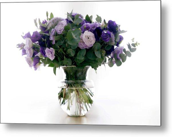 Vase Of Flowers Metal Print by Ton Kinsbergen/science Photo Library
