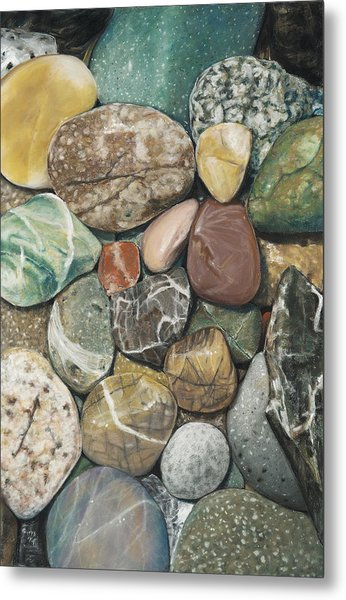Vashon Island Beach Rocks Metal Print