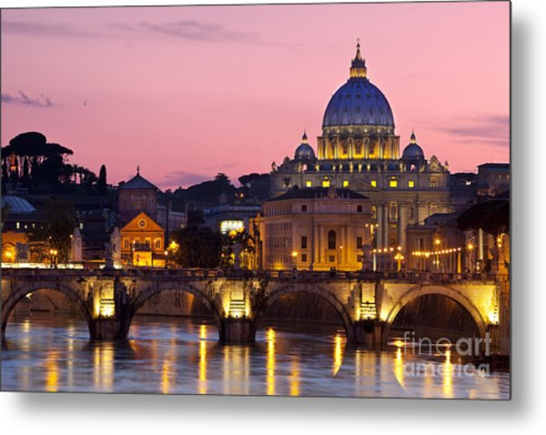 Metal Print featuring the photograph Vatican Twilight by Brian Jannsen