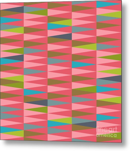 Vector Abstract Geometric Triangle Metal Print