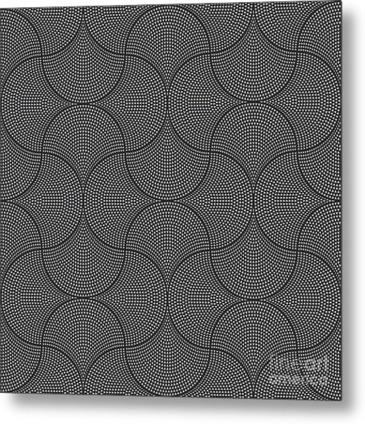 Vector Abstract Seamless Wavy Pattern Metal Print