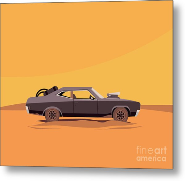 Vector Flat Illustration Of A Vehicle Metal Print