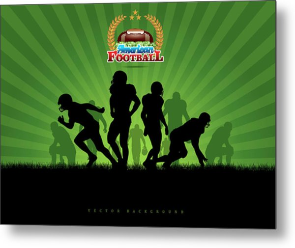 Vector Football Background Metal Print by Stock art