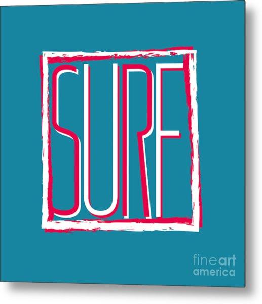 Vector Illustration Californian Surf Metal Print