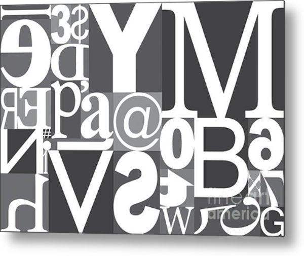 Vector Typography Blocks Metal Print by Rob Pitman