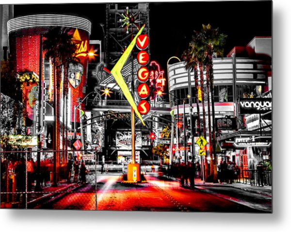 Vegas Nights Metal Print